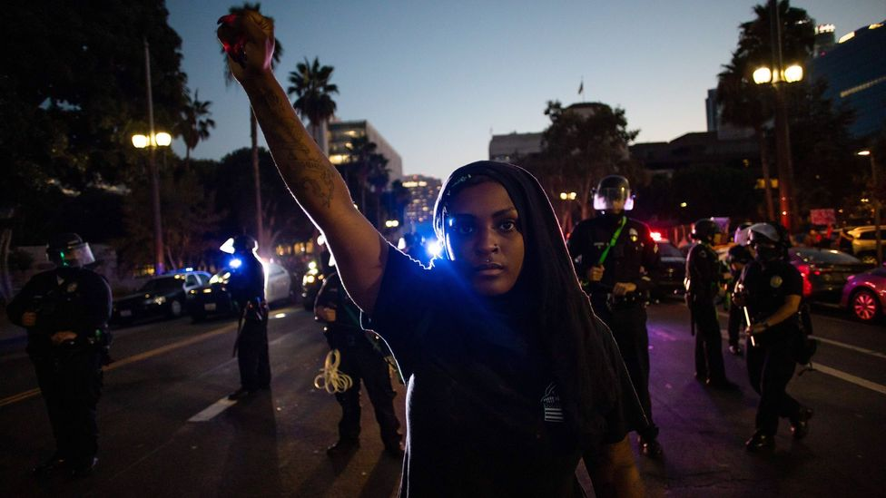 Black Americans are more likely than white Americans to view recent protests as an opportunity to learn (Credit: Getty Images)