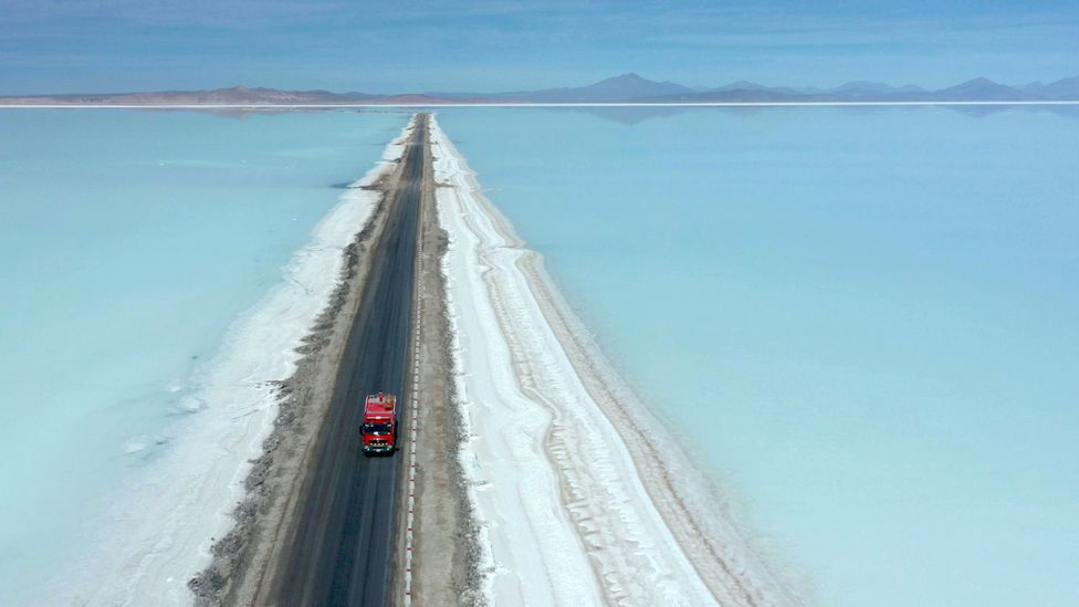 Large quantities of lithium currently come from reservoirs in South America, but this method is water-intensive (Credit: Getty Images)