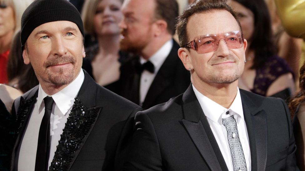 """U2's Bono and The Edge wrote the songs, which were described as """"like a persistent headache"""" by the New York Times (Credit: Alamy)"""
