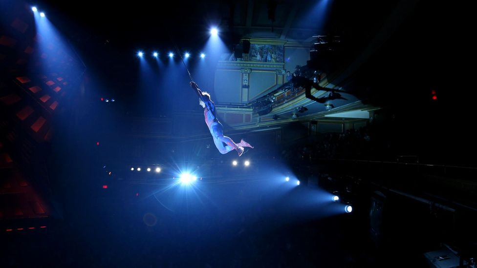 The show's aerial antics were plagued by technical hitches and accidents (Credit: Getty Images)
