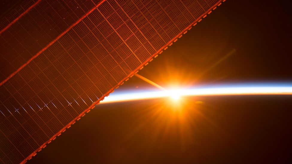 Solar energy is already used to power spacecraft, but beaming that energy back for use on Earth would become the next level (Credit: Nasa)