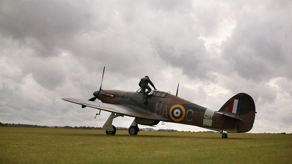 Pilot climbing into Hurricane (Credit: Oli Scarff/Getty Images)