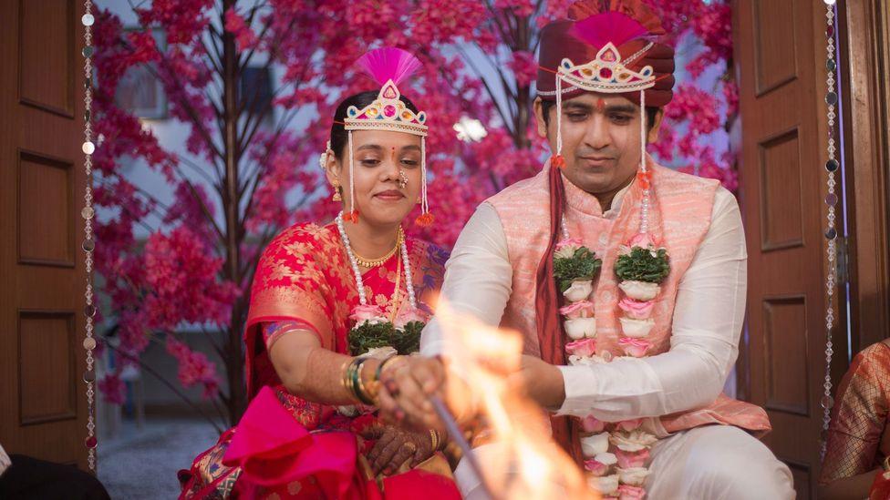 In Mumbai, Rasika Kshirsagar and Ajinkya Meher scaled their wedding from 700 people to 25 (Credit: Rasika Kshirsagar)
