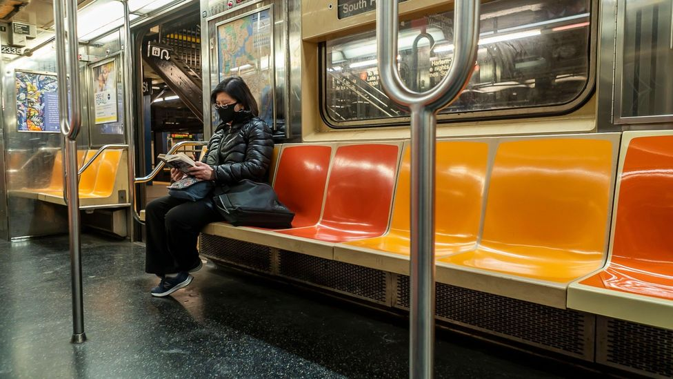 Passenger numbers on the New York subway have plummeted during the pandemic (Credit: Alamy)