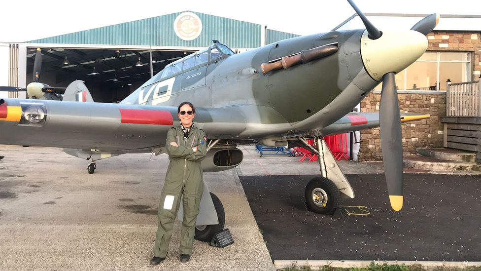 Anna Walker is the only female pilot to fly Hurricanes in the world today (Credit: Courtesy Anna Walker)