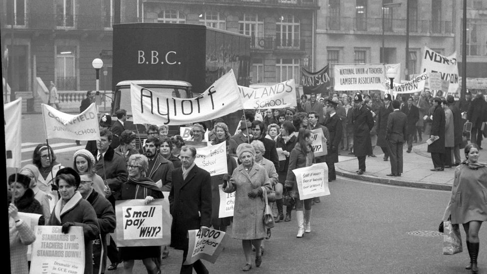 Union membership has been in steady decline since its heyday in the 1970s (Credit: Alamy)