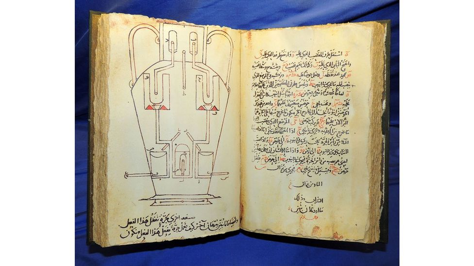 """The library was home to many groundbreaking texts, such as this book of """"ingenious inventions"""", published in 850 (Credit: Photo12/Universal Images Group/Getty Images)"""
