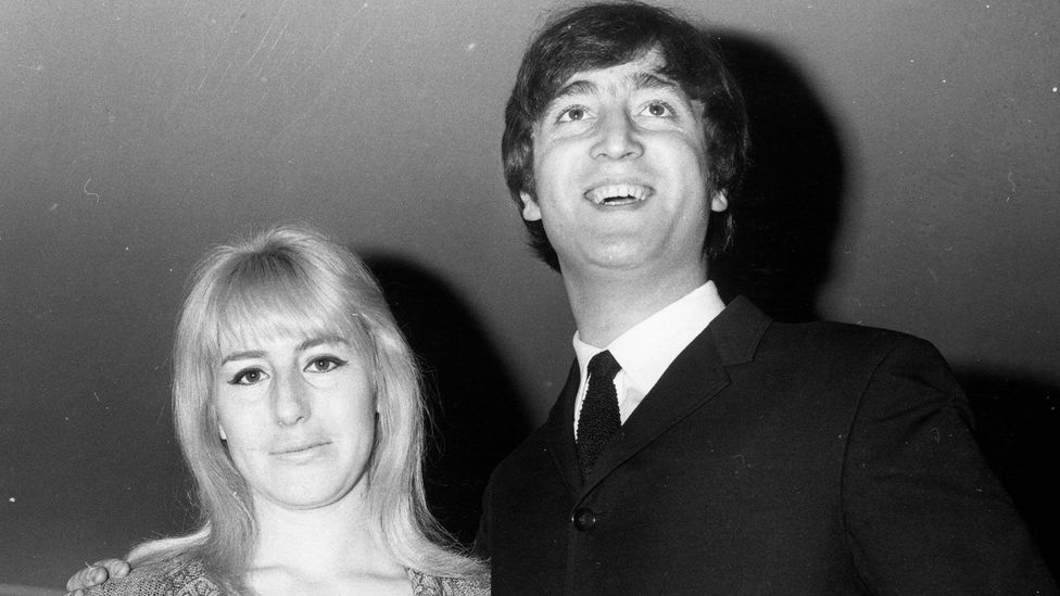 Lennon admitted to hitting women, including his first wife Cynthia, in an interview published two days before his death (Credit: Alamy)