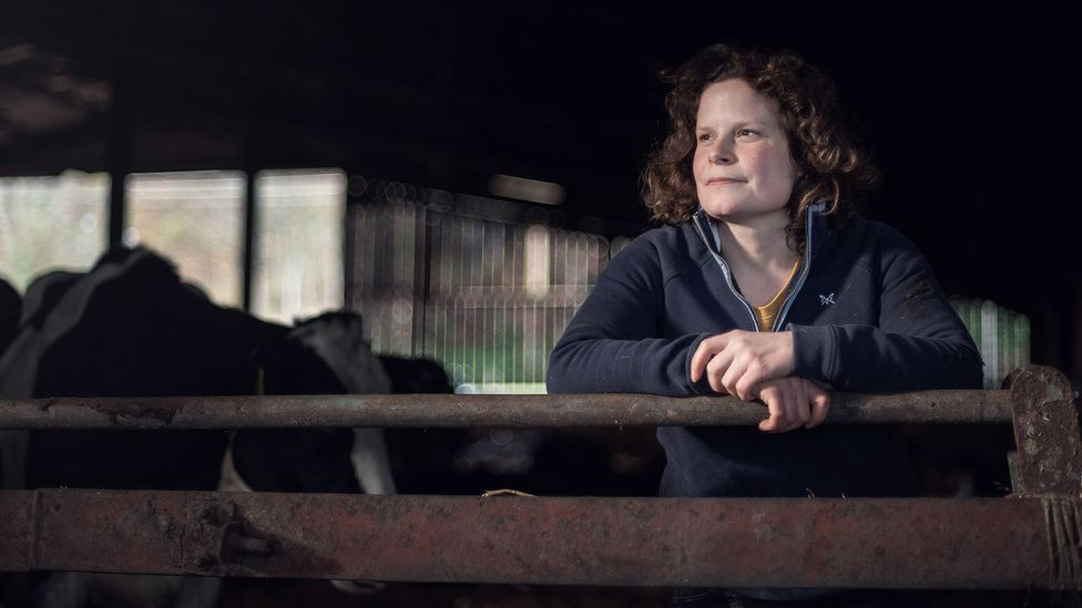 Dairy farming is Hannah Edwards' profession and vocation – and the welfare of the herd is always her primary concern (Credit: John Quintero/BBC)