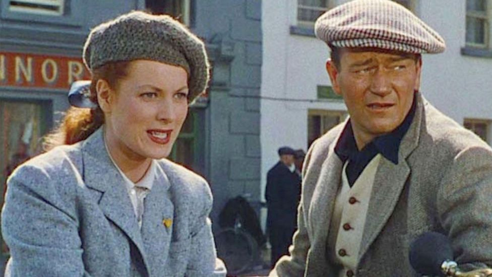 John Ford's 1952 film The Quiet Man, starring John Wayne and Maureen O'Hara, is Hollywood's quintessential Irish fantasy (Credit: Alamy)