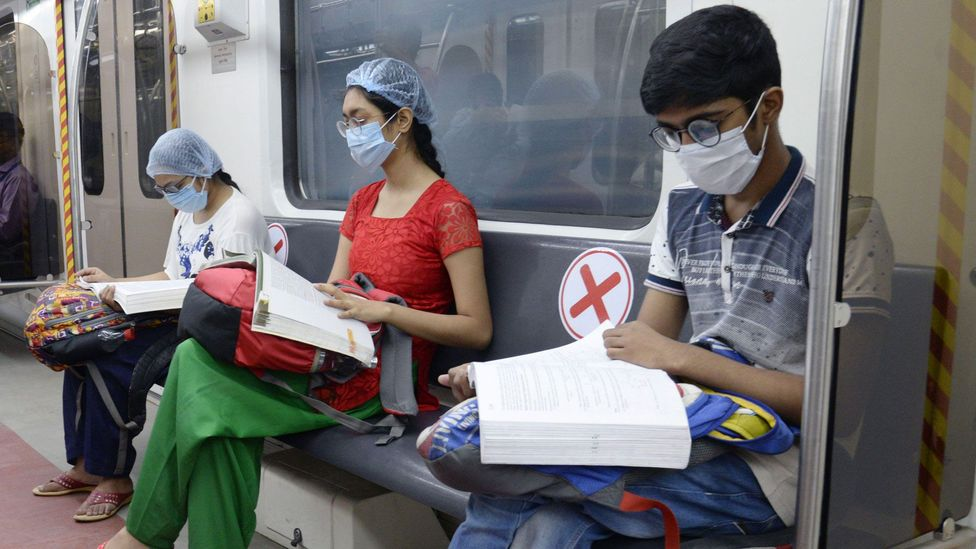 Many Indian cities reopened public transport facilities that had been suspended due to the pandemic to enable students to travel to test centres (Credit: Alamy)
