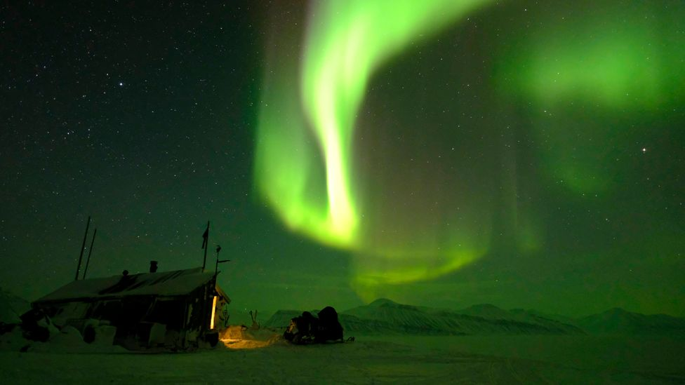 During their months of near-total isolation, the polar night produced some glorious sights (Credit: Hearts in the Ice)