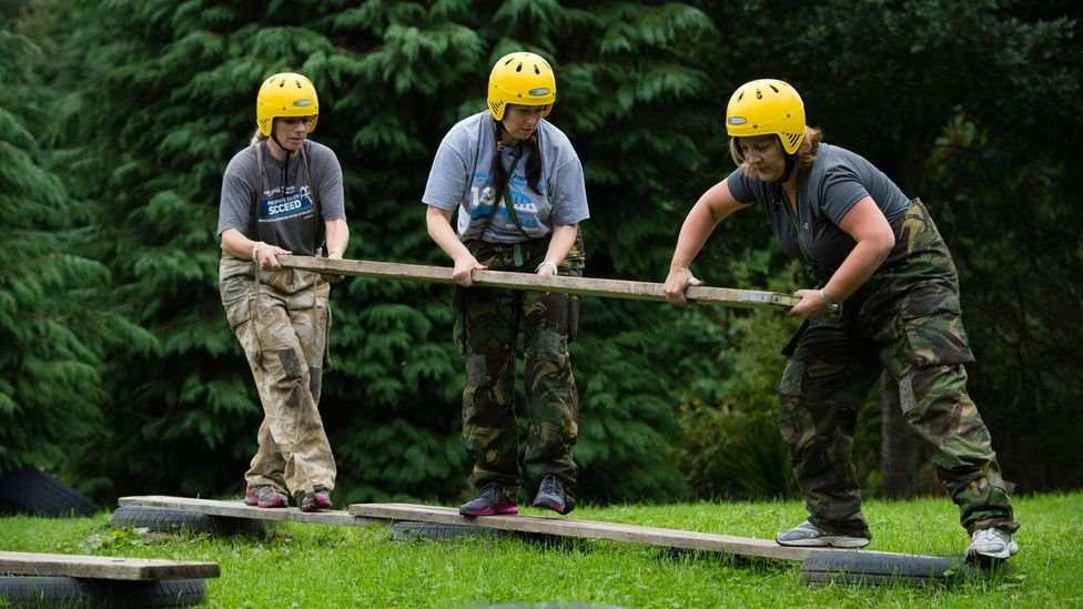 Can team-building activities that don't relate to actual work tasks forge bonds? Not necessarily, say some experts (Credit: Alamy)