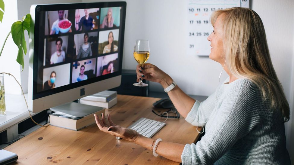 It's challenging to replicate the feeling of in-person camaraderie in a virtual environment – which may be why Zoom happy hours feel pointless (Credit: Alamy)