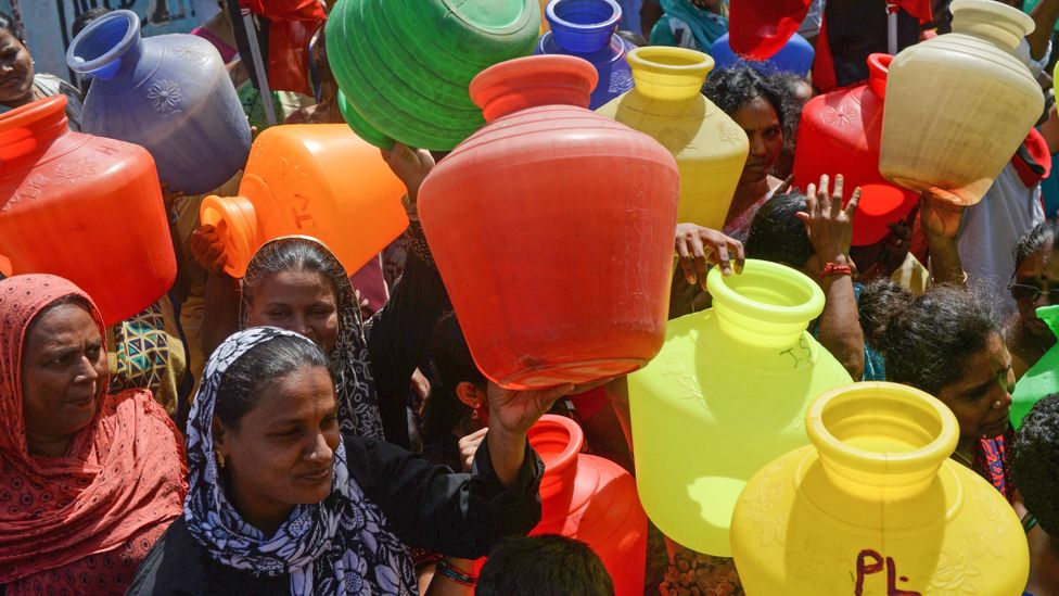 In June 2019, the major reservoirs supplying Chennai with water ran dry, leaving many unable to essential water supplies (Credit: Getty Images)