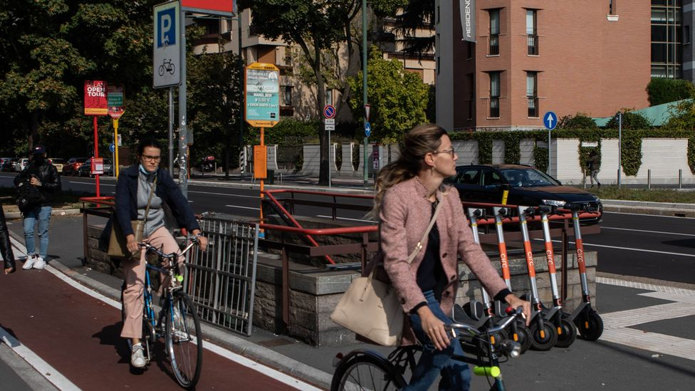 There are several factors that make a bike share more likely to be successful – including the availability of cycle lanes near bicycle stations (Credit: Getty Images)