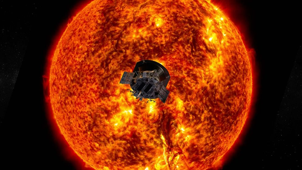 Nasa's Parker Solar Probe mission has travelled closer to the Sun than any human-made object before it (Credit: Nasa/Johns Hopkins APL)