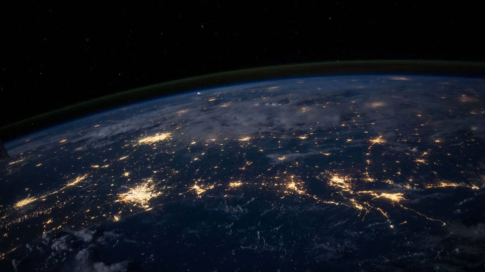 Electricity grids, the internet, and interstate highways are enormous in scale, yet we take them for granted (Credit: Nasa)
