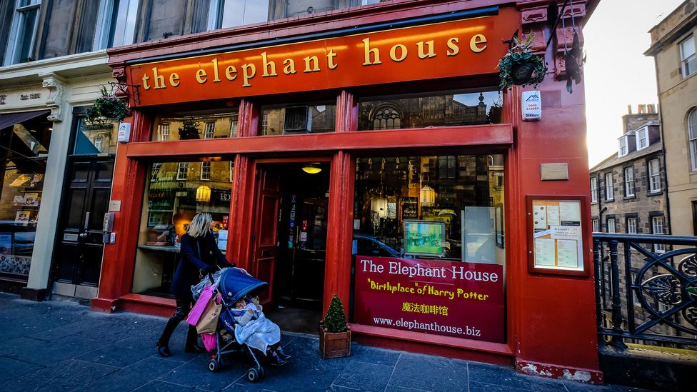 The Elephant House in Edinburgh is famous for being the café in which JK Rowling originated the Harry Potter series (Credit: Alamy)