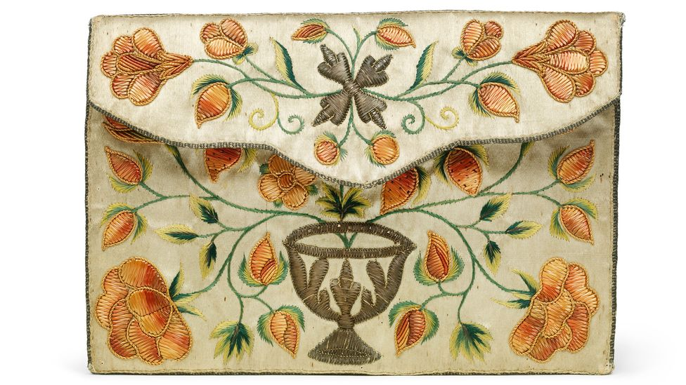 An 18th-Century pocketbook, probably created in Italy, is an example of early, exquisite craftsmanship (Credit: Victoria and Albert Museum, London)