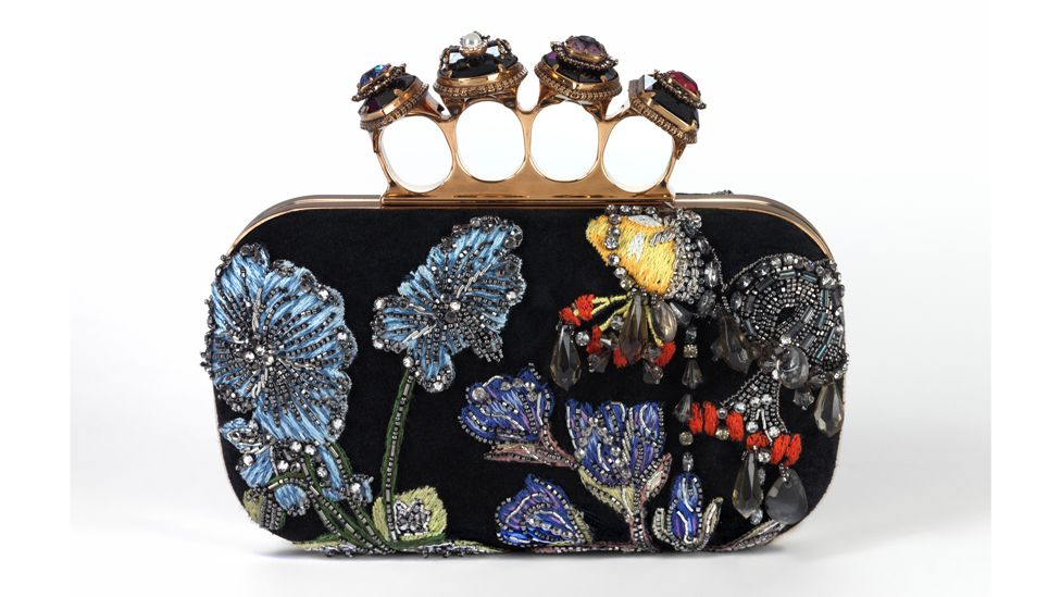 The 2020 spider-jewelled, four-ring clutch by Alexander McQueen is both evening bag and art piece (Credit: Victoria and Albert Museum, London)