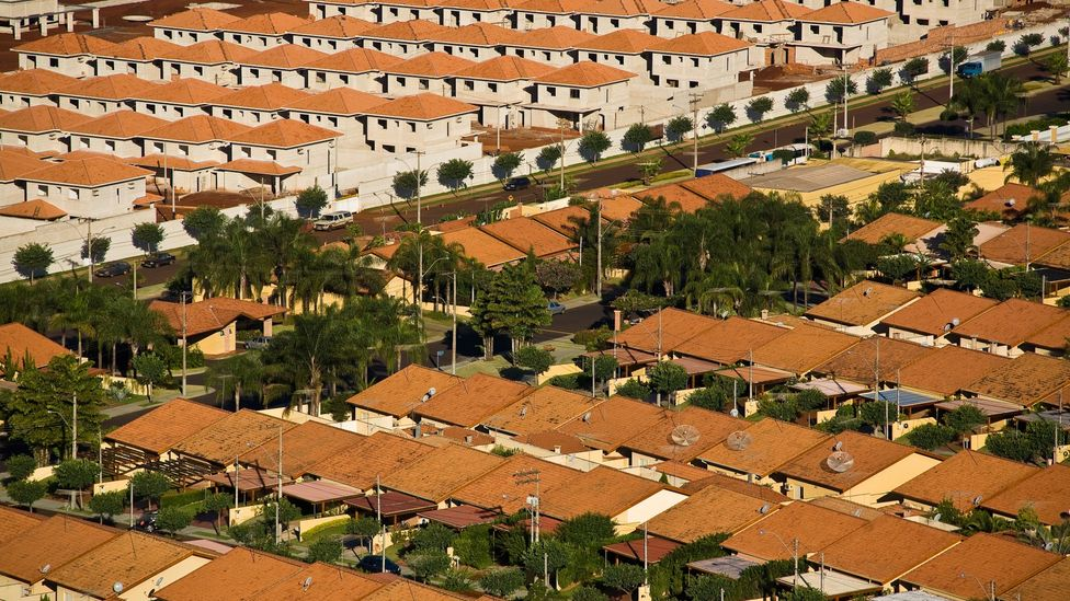Gated communities like these are common in Brazil, but can overburden local infrastructure (Credit: Alamy)