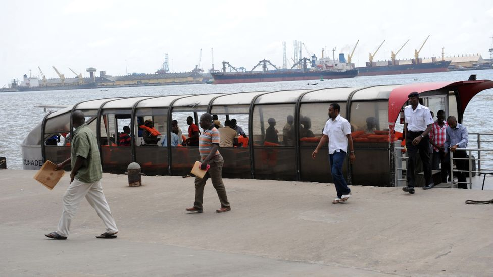 Ferry usage in Lagos is one alternative to the city's famously congested roads, and it could be a greener way of travelling too (Credit: Getty Images)