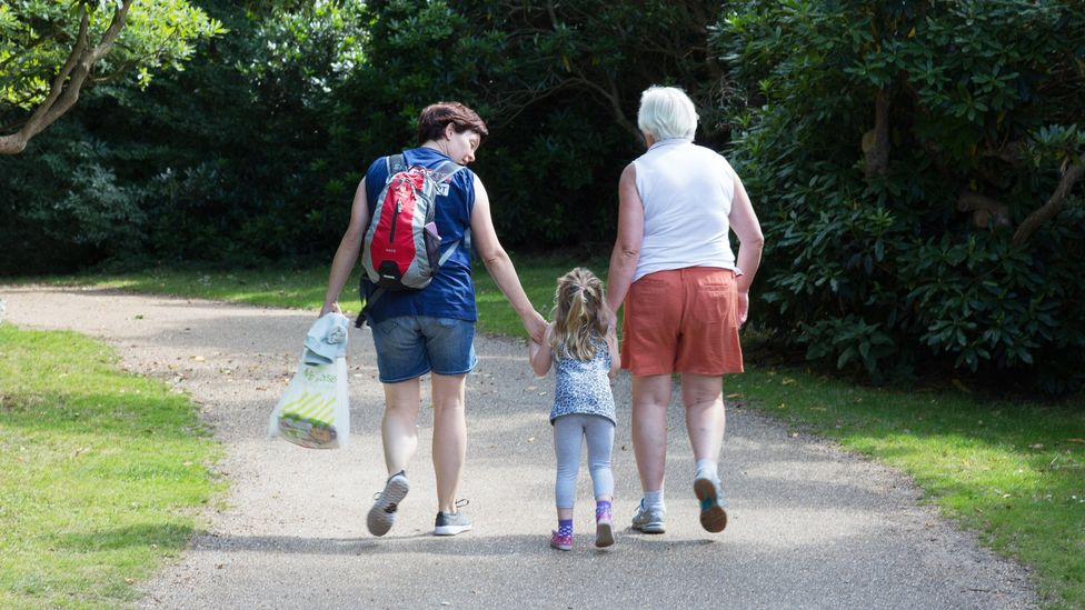 File image of a mother, daughter and grandmother