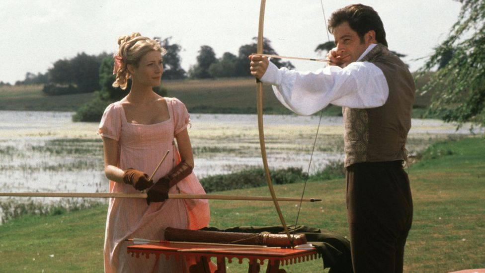 Glossy Austen adaptations such as 1997's Emma with Gwyneth Paltrow have been hits – but her writing is much more steely than these often suggest (Credit: Alamy)