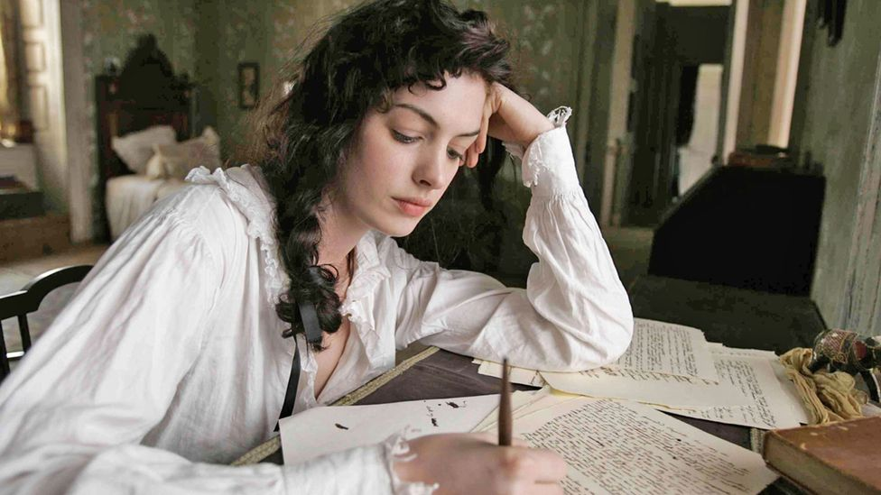 The young Austen (seen here played by Anne Hathaway in the 2007 film Becoming Jane) endured many false starts in her writing career (Credit: Alamy)