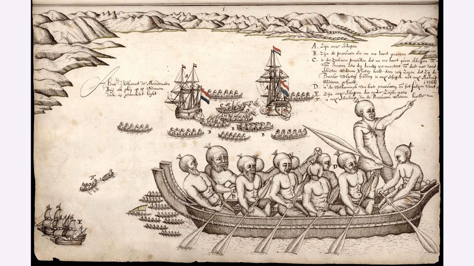 Tasman's ships left New Zealand after a bloody encounter with the Māori people – but he believed that he had found the legendary southern continent (Credit: Alamy)