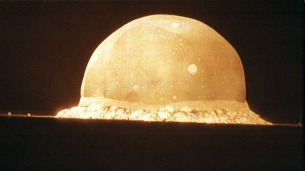 The first atomic weapon test marked the beginning of a new precipitous era (Credit: Getty Images)