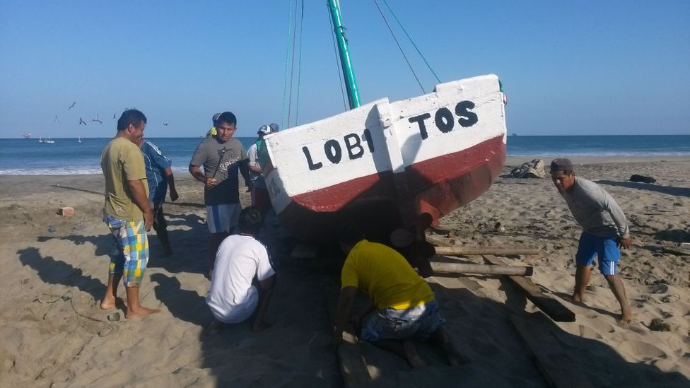 The local economy of Lobitos relies heavily on surfing, and protecting their waves in law was intended to help safeguard that income (Credit: Alejandro Pizarro)