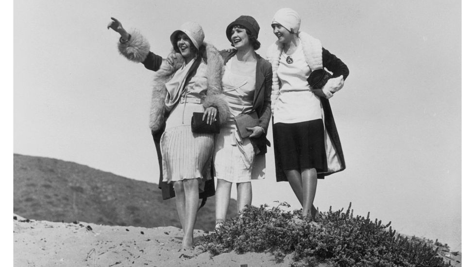 The flapper generation of the 1920s made their mark with a radically new, androgynous silhouette and bob haircut (Credit: Getty Images)