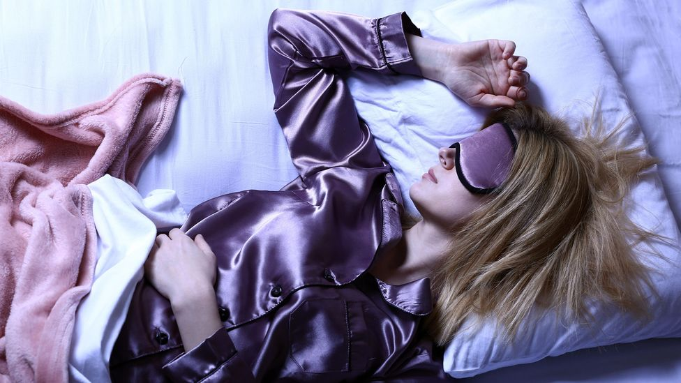 Interest in sleep-centric products like silk pyjamas has skyrocketed while influencers are increasingly showing off their sleep routines (Credit: Alamy)