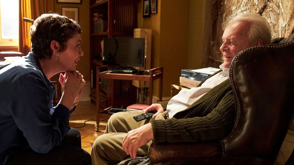 The Father centres on the relationship between Anthony (Anthony Hopkins), who is grappling with dementia symptoms, and his daughter Anne (Olivia Colman) (Credit: Alamy)