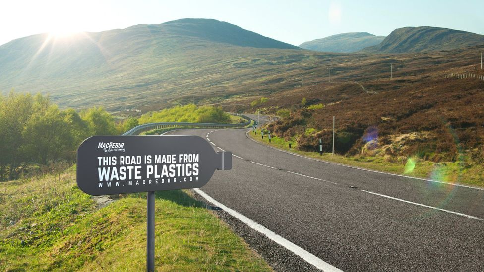 The plastic that goes into roads would otherwise go to landfill or the incinerator (Credit: MacRebur)