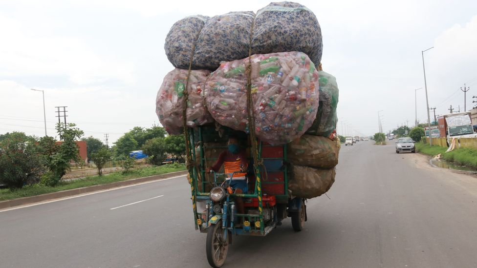 India generates more than 3.3 million tonnes of waste plastic a year (Credit: Getty Images)