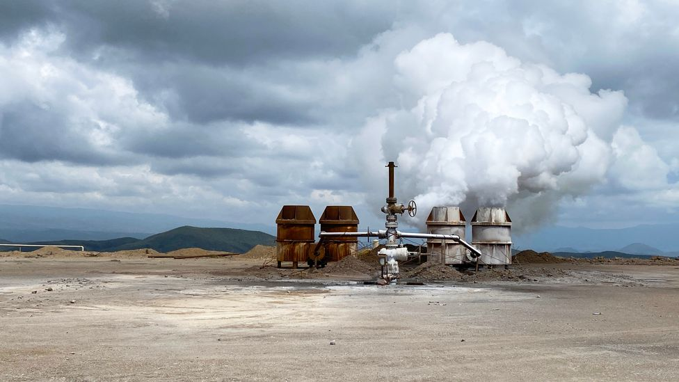The Olkaria geothermal power plant in Kenya provides around a quarter of the country's energy (Credit: Jacob Kushner)