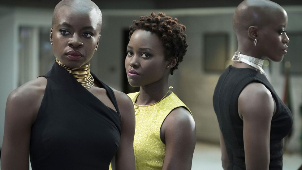 Black Panther subverted stereotypes by depicting a progressive African kingdom with strong roles for women (Credit: Alamy)