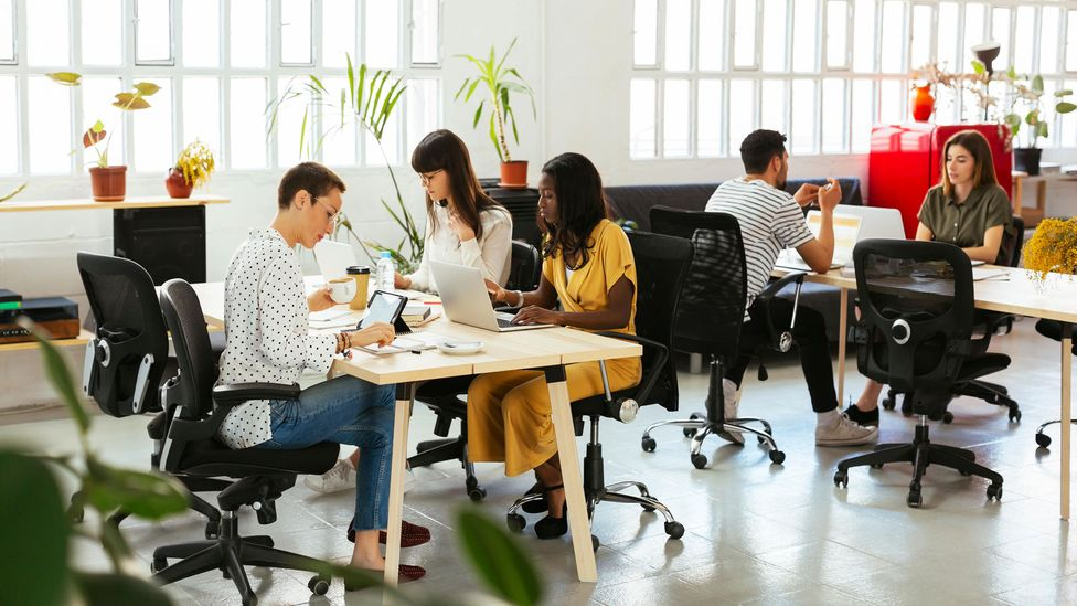 Being in the office gives you more opportunity to show your skills and connect with people – which helps with promotions (Credit: Alamy)