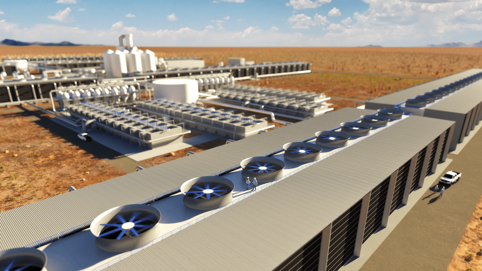 Carbon Engineering is planning the world's largest direct air capture plant, in Texas, USA (Credit: Carbon Engineering)