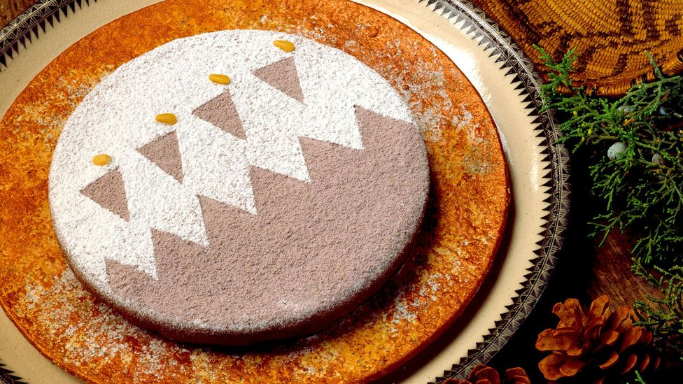 Piñon nut torte is a signature dish for the feast days of the Indian Pueblos of New Mexico (Credit: Red Mesa Cuisine)