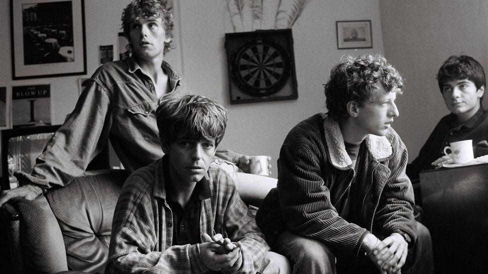 The La's (aquí fotografiados en Liverpool en 1990) ayudaron a marcar el comienzo de la era del Britpop de los 90 en la música de guitarra británica (Crédito: Getty Images)