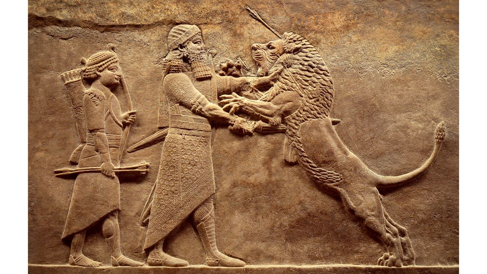 The carvings bring together man and beast as worthy adversaries (Credit: Getty Images)