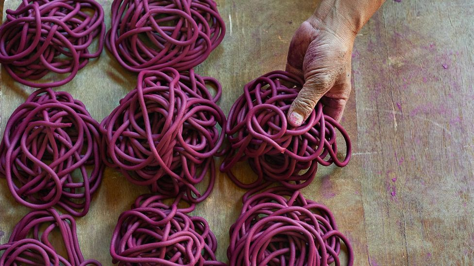 Fermented dough soon becomes spools of soft incense (Credit: Simon Urwin)