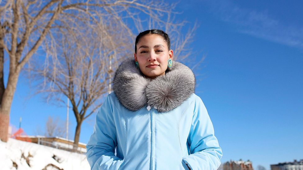 TikTok star Shina Novaling is sharing the tradition of Inuit throat singing for a new generation (Credit: Stephanie Foden)
