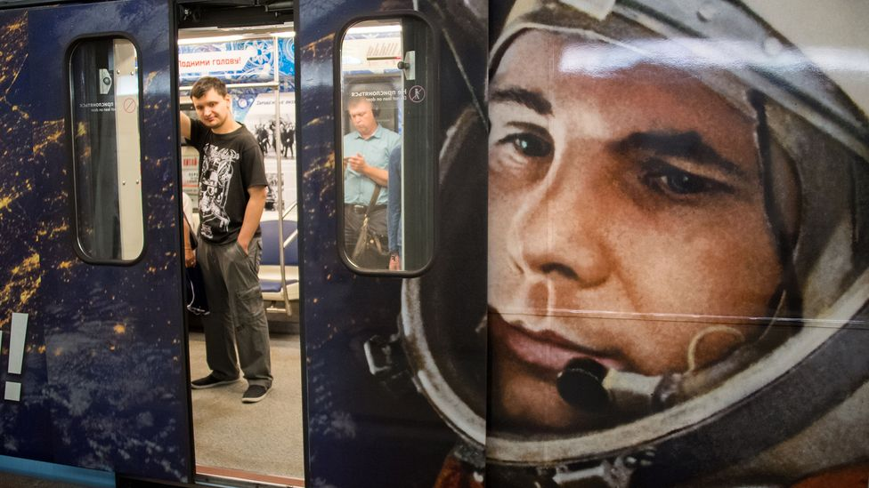 Gagarin's iconic presence did not die with the fall of the Soviet Union (Credit: Yuri Kadobnov/AFP/Getty Images)