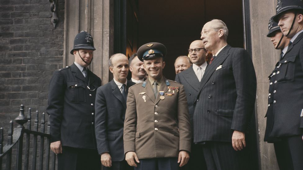 Gagarin's popularity took the British government by surprise, and audiences with the prime minister and the Queen were hastily arranged (Credit: Hoxton/Getty Images)