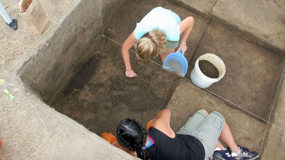 Archeological work is ongoing at Cahokia Mounds State Historic Site (Credit: Tom Uhlman/Alamy)